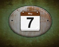 May 7 calendar photo