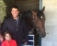 Kumin with My Man Sam and his kids after the colt's 2nd place finish in the Blue Grass Stakes