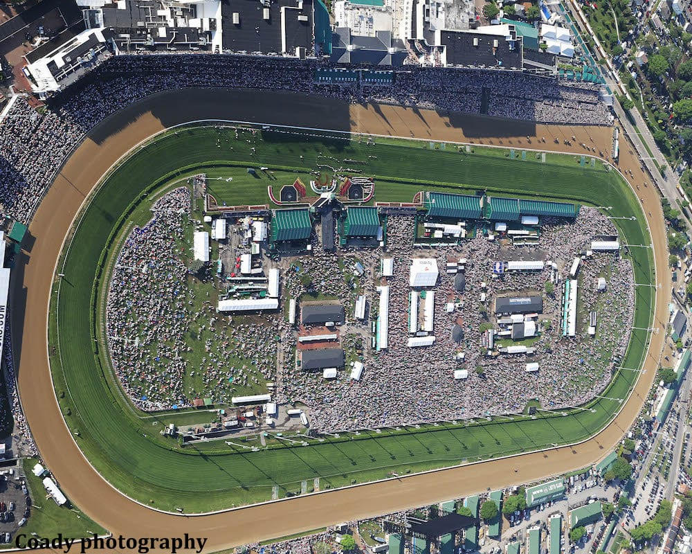 Churchill Downs Has Second Largest Crowd But Wagering On