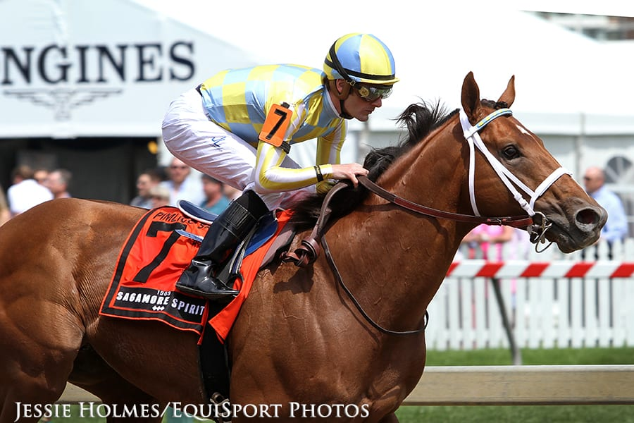 Noble Bird, seen here winning the Pimlico Special, headlines Saturday's G2 Fayette Stakes at Keeneland