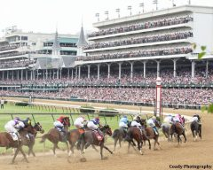 Racing at Churchill Downs