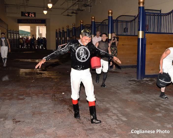 Jockey Guerrero Wins First Race At Gulfstream Park Horse