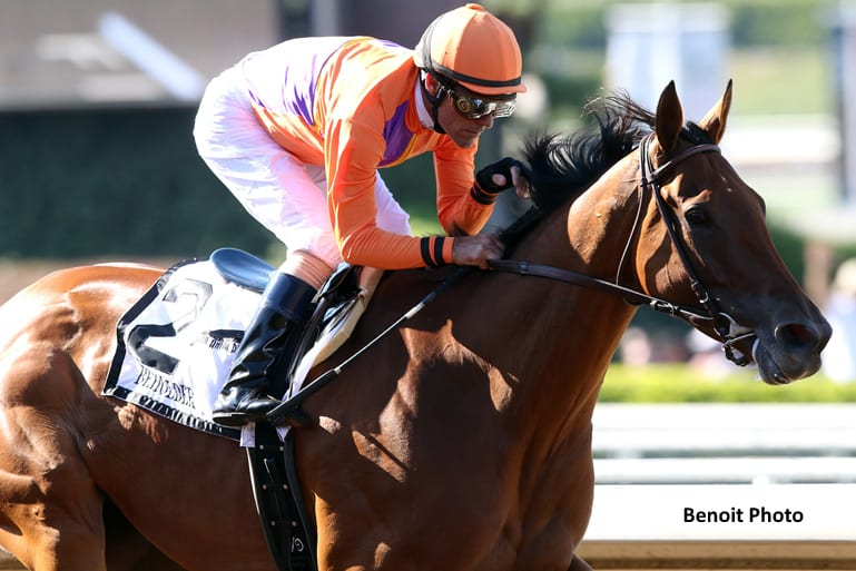 Beholder Continues To Impress With Victory In Vanity Mile Horse Racing News Paulick Report