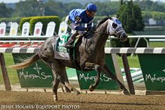 Frosted (Tapit) and jockey Joel Rosario win the Metropolitan Handicap (Gr I) at Belmont Park.