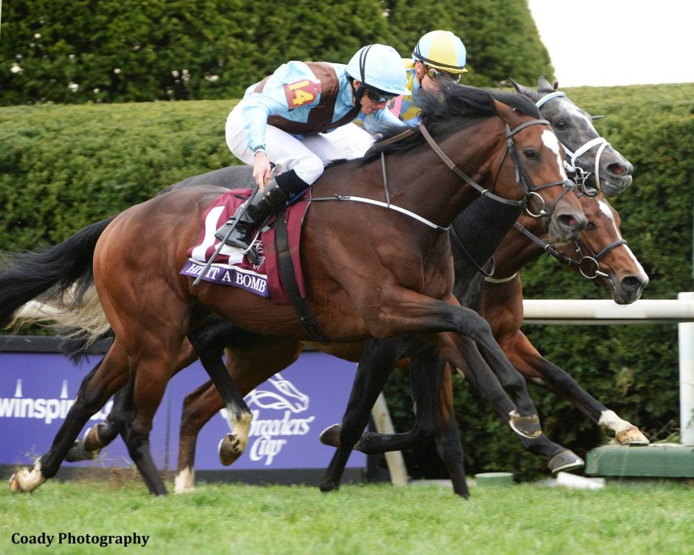 Breeders Cup Winner Hit It A Bomb Gearing Up For 2016