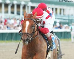 Paid Up Subscriber earned her first stakes win in the G2 Fleu de Lis.