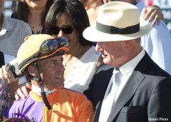 A pair of Hall of Famers: jockey Gary Stevens and Richard Mandella