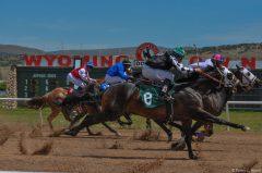 Racing at Wyoming Downs