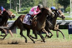 Haveyougoneaway charges to the lead in the G1 Ballerina Stakes