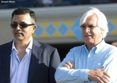 Kaleem Shah and Bob Baffert, following Klimt's victory in the G2 Best Pal at Del Mar last summer