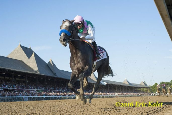 Arrogate sets record in Travers (Photo: Eric Kalet, Paulick Report)