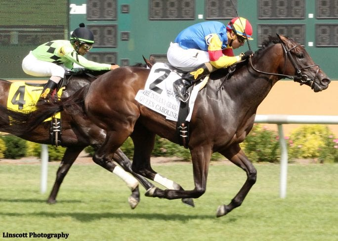 Queen Caroline takes the $200,000 Indiana Grand Stakes