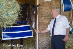 Songbird & Jerry Hollendorfer after her win in the Cotillion