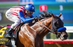 Klimt drew off in the stretch to win the Del Mar Futurity by 4 1/4 lengths
