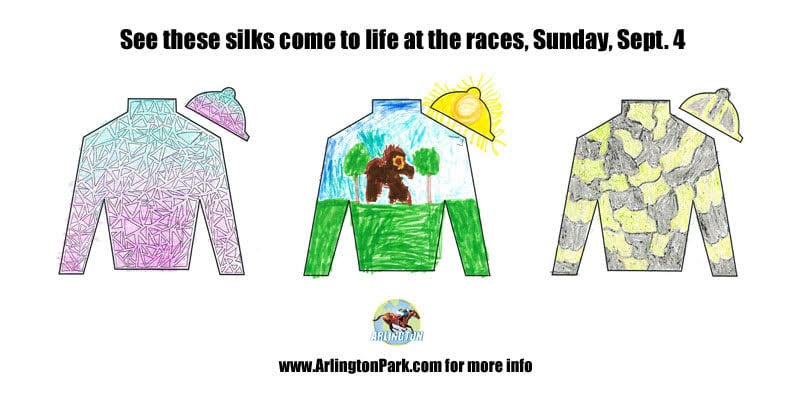 Children's silks designs will come to life Sunday at Arlington Park