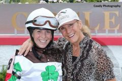 Sophie with her mother, Jacqueline, after Saturday's victory aboard Fioretti