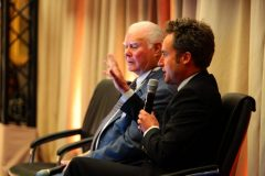 Irwin and Delloye consider audience questions on ownership at the iFHA conference