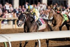 Classic Empire (Pioneerof the Nile) wins The Claiborne Breeders' Futurity (G1) at Keeneland