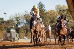 Classic Empire (Pioneerof the Nile) wins The Claiborne Breeders' Futurity (G1) at Keeneland