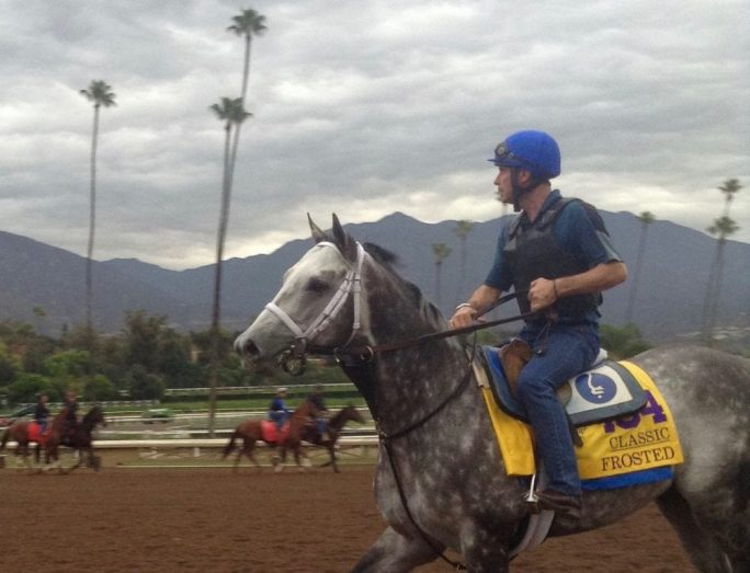 Classic contender Frosted leaves the track Sunday morning