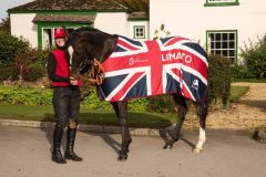 Groom Amy Scott with dual Group 1 winner Limato, who will represent Great Britain in the BC Mile