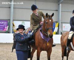 Katie Jerram with the Queen's horse, Barbers Shop