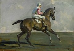 'Study for Going to the Start' by Sir Alfred J. Munnings, Lot 58 in the European Sale. Photo: Sotheby's New York