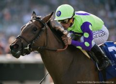 New Money Honey wins the Breeders' Cup Juvenile Fillies Turf