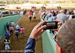 Cell phones were used for more than taking pictures at this year's Breeders' Cup