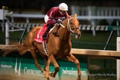 Gun Runner wins the Clark Handicap at Churchill Downs for Winchell Thoroughbreds and Three Chimneys Farm