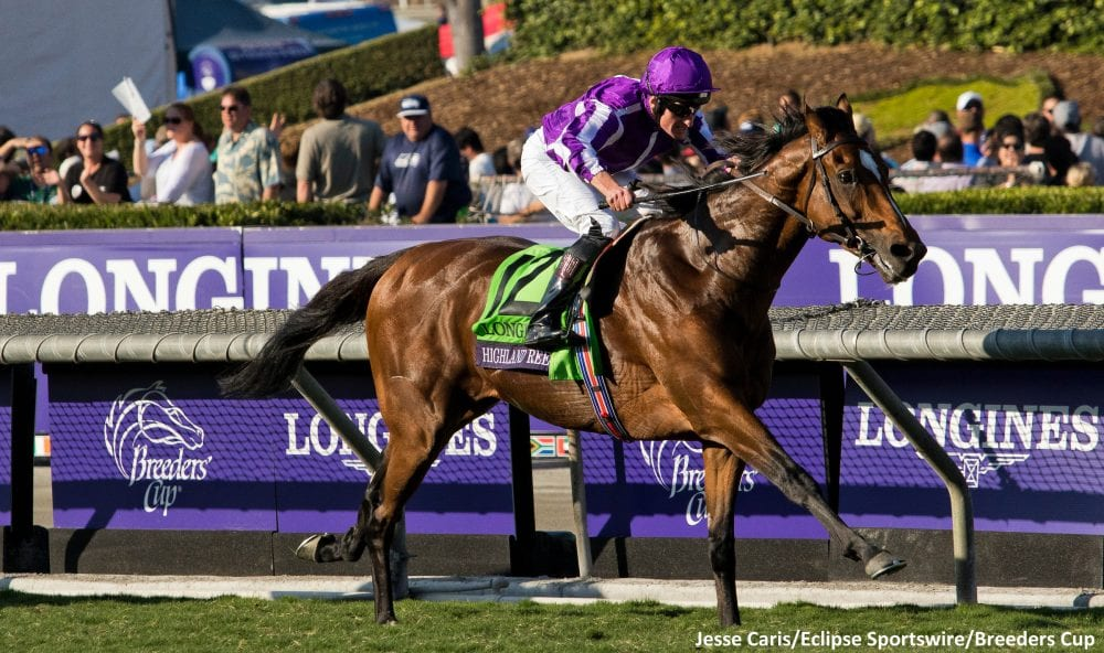 Breeders' Cup Turf victor, the Coolmore-owned Highland Reel