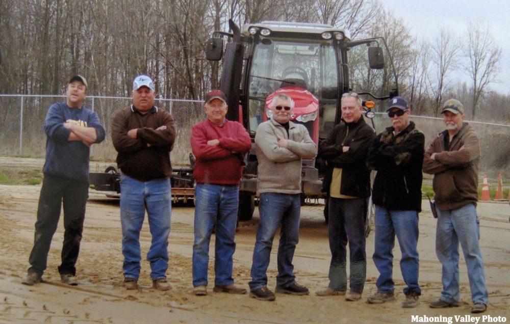 Track maintenance crew at Mahoning Valley