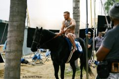 UFC champion Conor McGregor on the set for the '13th Jockey'
