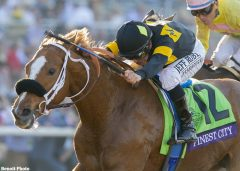 Finest City charges to victory in the G1 BC Filly & Mare Sprint