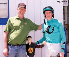 Trainer Kieron Magee, left, and jockey Trevor McCarthy topped Maryland's year-end standings.