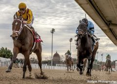 Valadorna scored in her 2017 season debut in an allowance race at the Fair Grounds