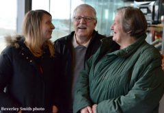 Trainer Don Pleterski, with wife Kathy and daughter Susan