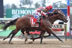 Practical Joke wins his second Grade 1 event in the Champagne