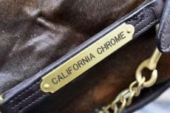 This California Chrome halter is listed on eBay, with proceeds to benefit the Lexington Catholic High School.