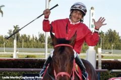 Paco Lopez rode five winners Friday at Gulfstream Park