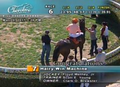 The winner of he sixth race at Will Rogers Downs on March 20