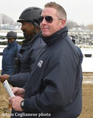 McMullen's work begins in the morning, when notes are taken on every horse
