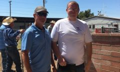Jonathan Little, right, with a Rillito Park security guard, hopes to go into track management