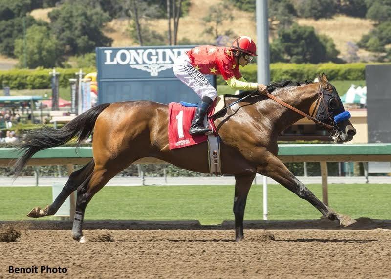 American Anthem Cruises To Lazaro Barrera Victory Horse