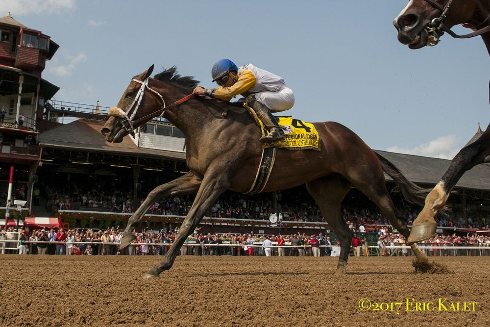 Forever Unbridled nails Songbird for Personal Ensign win