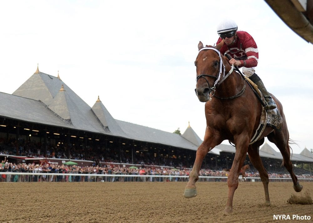 Gun Runner dominates to win Woodward by 10 1/4 lengths