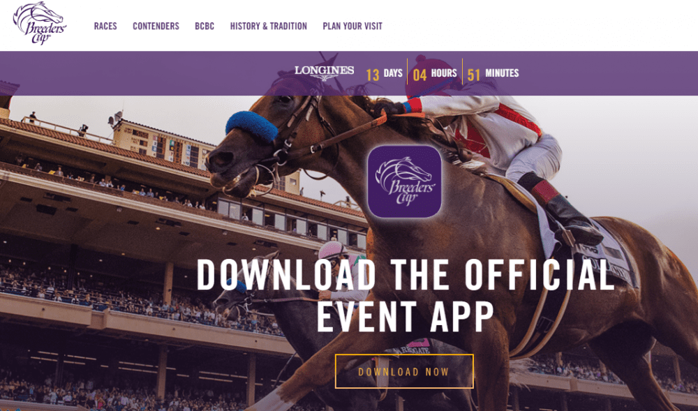 Breeders' Cup Debuts New Mobile App, Redesigned Website - Horse