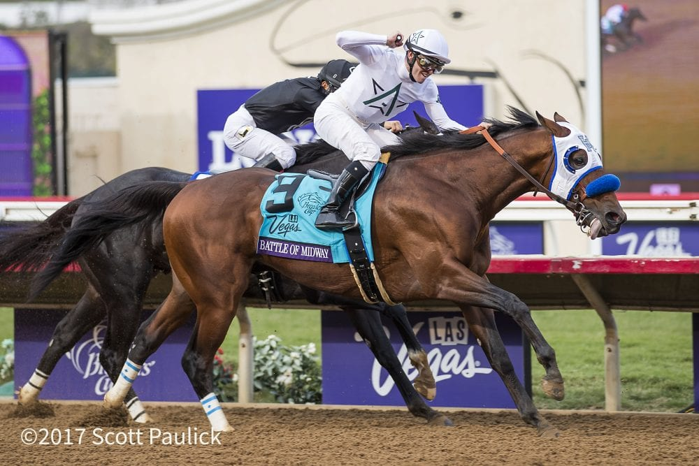 Breeders' Cup Winner Battle Of Midway Returns To Training