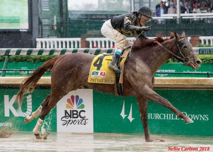 Funny Duck Wins G3 Pat Day Mile Swimmingly In The Slop At
