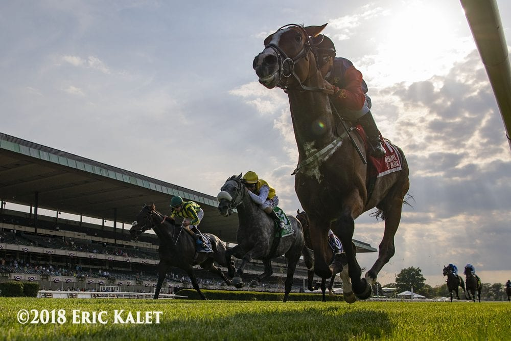 The Queen's horse wins at Belmont